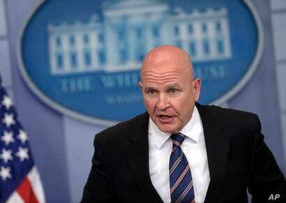 National Security Adviser H.R. McMaster speaks during a briefing at the White House in Washington, May 16, 2017.