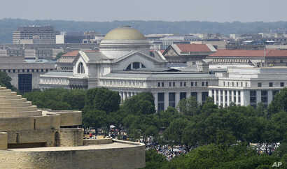 FILE - A view of the National Archives building in Washington, May 8, 2015.