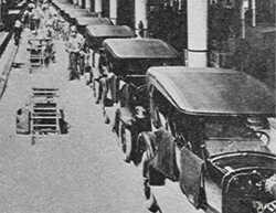 GM's Norwood assembly plant as it appeared in 1923, the year it opened. It employed 600 workers and was capable of producing 200 cars per day
