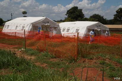 A UNICEF-funded cholera treatment camp in Bwaila Hospital, Lilongwe, Malawi. (Photo: Lameck Masina for VOA)