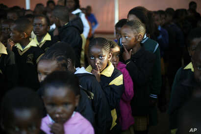 Students are seen at a primary school in Johannesburg, South Africa, July 18, 2013.