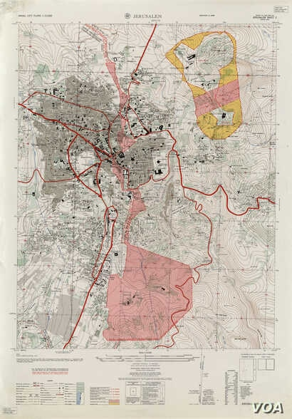 The 1961 U.S. Army Map Service Map of Jerusalem. Source: University of Texas Perry-Castaneda Library Map Collection.