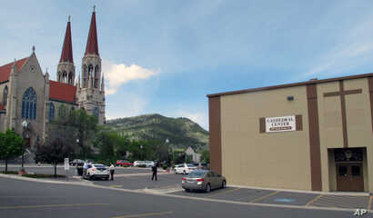 The offices of the Roman Catholic Diocese of Helena and the Cathedral of St. Helena are shown in Helena, Montana. The Diocese was forced into bankruptcy in 2014 as part of a $20 million dollar settlement plan for hundreds of abuse survivors.