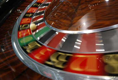 A roulette is displayed at the Global Gaming Expo Asia in Macau, June 8, 2011.