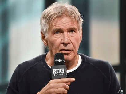 """Actor Harrison Ford participates in the BUILD Speaker Series to discuss the film """"Blade Runner 2049"""" at AOL Studios, Sept. 27, 2017, in New York."""