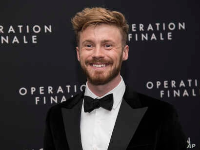 """Matthew Orton attends the premiere of """"Operation Finale"""" at the Walter Reade Theater, Aug. 16, 2018, in New York."""