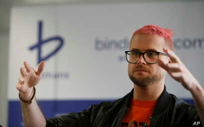 Whistleblower Christopher Wylie, who alleges that campaign for Britain to leave EU cheated in referendum in 2016, speaks to  media in London, March 26, 2018.