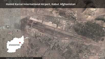 Map of Kabul airport, Afghanistan