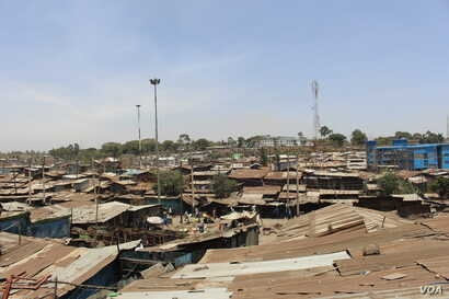 Aerial view of Mathare:Mathare is one of the oldest slums in Africa.