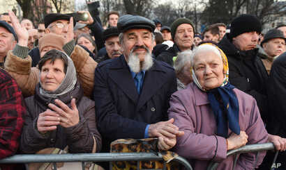 Supporters attend a campaign rally of Ukrainian President Petro Poroshenko in the western city of Lviv on March 28, 2019, ahead of the presidential election on March 31.