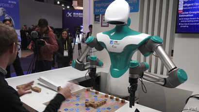 This Scrabble-playing robot was showcased by Industrial Technology Research Institute (ITRI), a Taiwan-originated group.