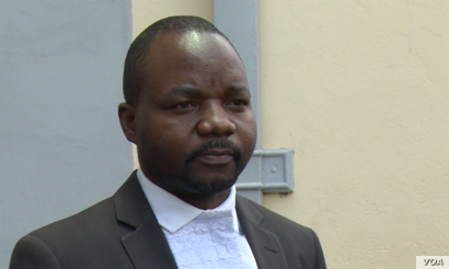 Tonderai Bhatasara of Zimbabwe Lawyers for Human Rights said he was not surprised by what he called tactics by state prosecutions to make his client stay longer in prison, Jan. 25, 2019, in Harare.