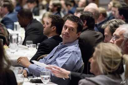 Rep. Devin Nunes, R-Calif., attends a speech by President Donald Trump at the 2018 House and Senate Republican Member Conference at The Greenbrier, in White Sulphur Springs, West Virginia, Feb. 1, 2018.