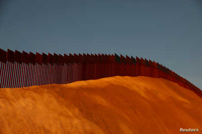 The U.S. and Mexico border fence is seen in Tijuana, Mexico, Jan. 27, 2019.