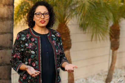 FILE - California Assemblywoman Cristina Garcia poses for a picture at her campaign headquarters in Downey, Calif., April 27, 2018. The California Legislature is resuming an investigation into allegations of misconduct by Garcia in light of concerns ...