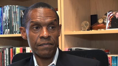 Security expert Erroll Southers of the University of Southern California says that while social media can promote healthy debate on important topics, it can also potentially spread the anger if things go wrong. (M. O'Sullivan/VOA)