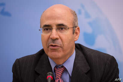 """CEO and co-founder of the investment fund Hermitage Capital Management Bill Browder attends the """"Prospects for Russia after Putin"""" debate in the Houses of Parliament, London on Nov. 18, 2014."""