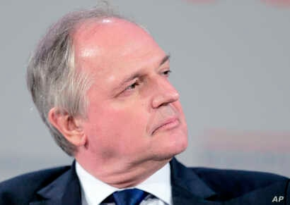 FILE - Paul Polman, CEO of Unilever, attends theBusiness And Climate summit, May 20, 2015,in Paris.