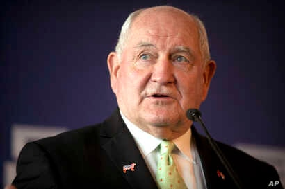 U.S. Secretary of Agriculture Sonny Perdue speaks at an event to celebrate the re-introduction of American beef imports to China in Beijing, June 30, 2017.