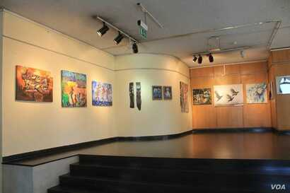 Artworks are displayed at the East Africa Art Biennale which opened this week in Nairobi, Kenya. The exhibit represents 62 artists from 11 countries. (Source - Facebook/EASTAFAB)