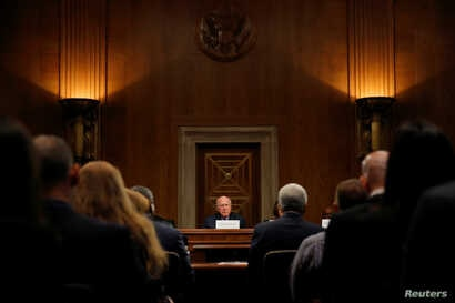Senate Judiciary Ranking Member Patrick Leahy (D-VT) holds a public meeting in support of the Supreme Court nomination of Merrick Garland, the Chief Judge of the U.S. Court of Appeals for the D.C. Circuit in Capitol Hill in Washington, May 18, 2016. ...