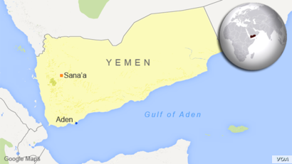 Map of the Gulf of Aden