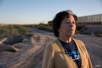 Dr. Anna Perez, a tribal member of the Tigua Nation--one of three federally recognized Native American tribes in Texas and resident of the Isleta del Sur Pueblo, looks in the direction of Ciudad Juarez, Mexico.