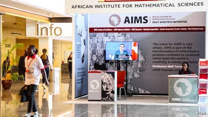 The African Institute for Mathematical Sciences (AIMS) had a booth set up at last week's Next Einsten Forum. AIMS created NEF to nurture African scientists.