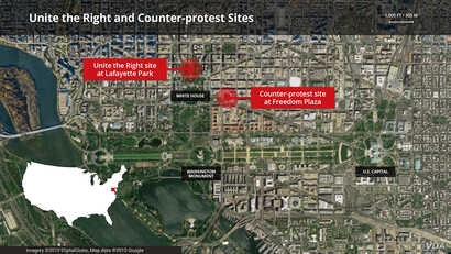 Unite the Right and Counter-protest Sitemap.