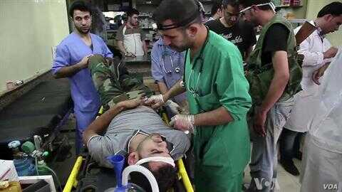 Aleppo Hospital Struggles With Rising Number of Civilian Casualties