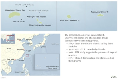The Senkaku/Diaoyu Islands map