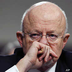 James R. Clapper, Jr., Director of National Intelligence, testifies on Capitol Hill  before the Senate Armed Services committee hearing on current and future worldwide threats to U.S. national security, March 10 2011