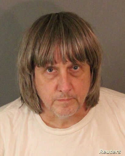 David Allen Turpin appears in a booking photo provided by the Riverside County Sheriff's Department, Jan. 15, 2018.