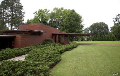 The Rosenbaum House, built in Florence, Alabama, in 1939, is the only structure designed by Frank Lloyd Wright in the state. (Photo by Carol Highsmith)