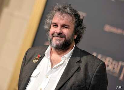 "FILE - In this Dec. 9, 2014 file photo, writer/director/producer Peter Jackson arrives at the Los Angeles premiere of ""The Hobbit: The Battle Of The Five Armies"" in Los Angeles."