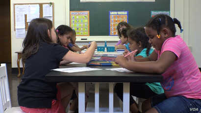 Children at the Hazleton Integration Project (HIP)—an after school care program in Hazleton, PA, that serves more than 1000 children weekly. Many of the children attending classes at HIP are first or second generation Americans.
