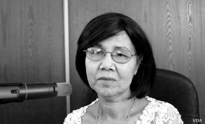 """Pichsanthor Kim survived the Khmer Rouge genocide and arrived in the United States as a refugee in 1980. She was featured in """"Follow the Moon"""" radio documentary. (Courtesy photo of Greg Barron)"""