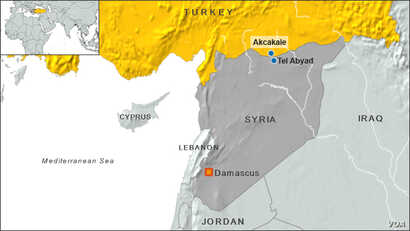 Border towns in Turkey and Syria