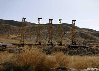 Equipment and machines installed by Chinese excavators are seen near a copper mine in Mes Aynak, Logar province Feb. 14, 2015.