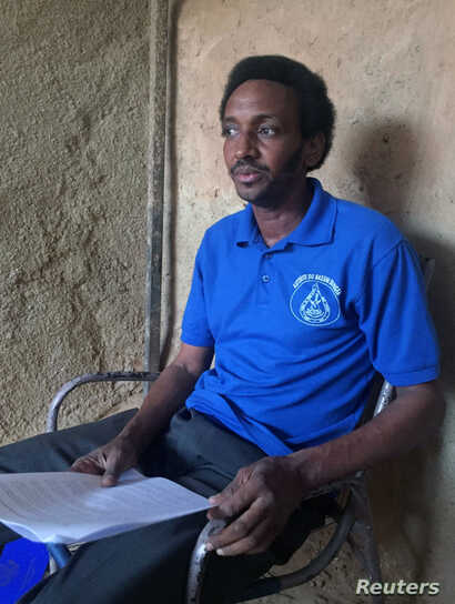 Boubacar Diallo, president of the livestock breeders association of north Tillaberi on the Mali border, goes through a list of more than 300 Fulani herders killed by Tuareg raiders in the lawless region, during an interview with Reuters in Niamey, Ni...