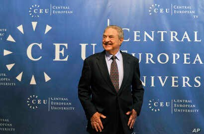 FILE - Hungarian-born U.S. billionaire and investor George Soros is seen ahead of a lecture at the Central European University (CEU), founded by him, in Budapest, Hungary, Oct. 26, 2009.