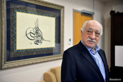 U.S. based cleric Fethullah Gulen at his home in Saylorsburg, Pennsylvania, July 29, 2016.  Turkey has issued arrest warrants for 55 people suspected of giving financial support to Gulen , who is accused of orchestrating a failed military coup in Jul...