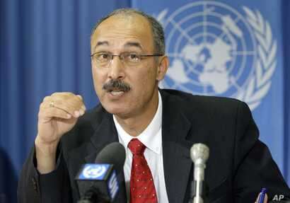 FILE - Egyptian Mahmoud Elkhafif, UNCTAD, Officer-in-charge of the Assistance to the Palestinian People, Geneva, Switzerland.