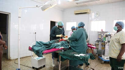The Yusuf Dantsoho Memorial Hospital has a high success rate with C-sections. (Photo: Chika Oduah for VOA)