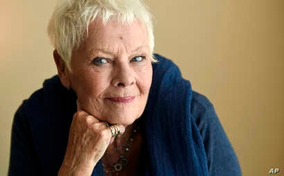 "Judi Dench, a cast member in the film ""Victoria and Abdul,"" poses for a portrait during the Toronto International Film Festival in Toronto, Sept. 11, 2017."