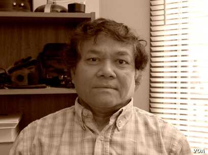 """Sokurt Sous survived the Khmer Rouge genocide and arrived in the United States as a refugee in 1982. He was featured in """"Follow the Moon"""" radio documentary by Greg Barron. (Courtesy photo of Greg Barron)"""