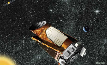 An artist's composite of the Kepler telescope is seen in this undated NASA handout image. Two of Kepler's four gyroscope-like reaction wheels, which are used to precisely point the spacecraft, failed in 2013, but engineers salvaged the telescope and ...