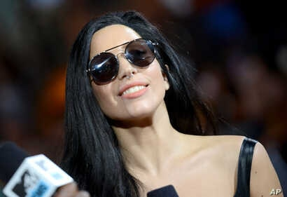 Lady Gaga arrives at the MTV Video Music Awards on Aug. 25, 2013, at the Barclays Center in the Brooklyn borough of New York.