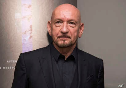 """Ben Kingsley attends the premiere of """"Operation Finale"""" at the Walter Reade Theater, Aug. 16, 2018, in New York."""