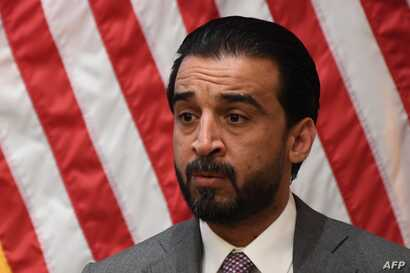 Iraq Council of Representatives Speaker Mohammed al-Halbousi speaks at the United States Institute of Peace (USIP) in Washington, D.C., March 29, 2019.
